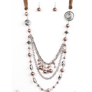Chocolate Ribbon Necklace Set